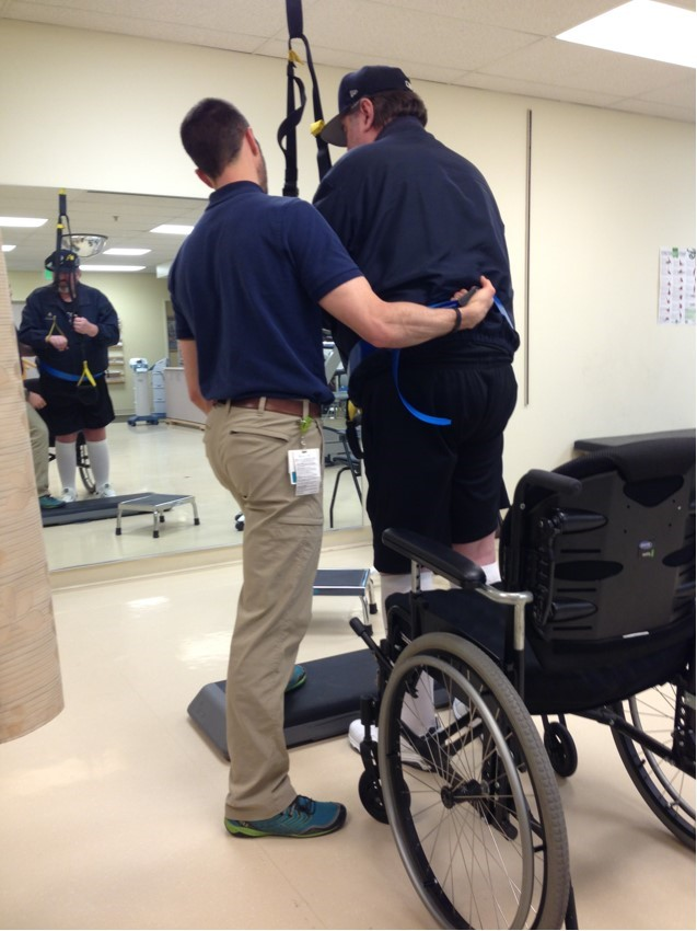 Jeff in Physical Therapy